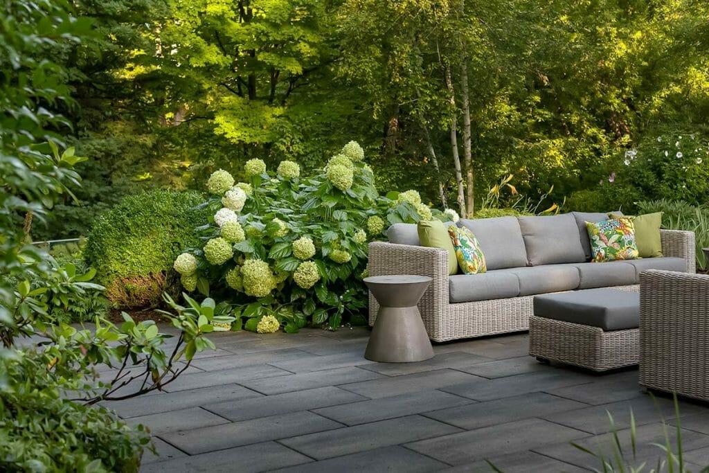 Beautiful Large Backyard Patio Design Project; Featuring Interlocking Back Patio on Chine Drive