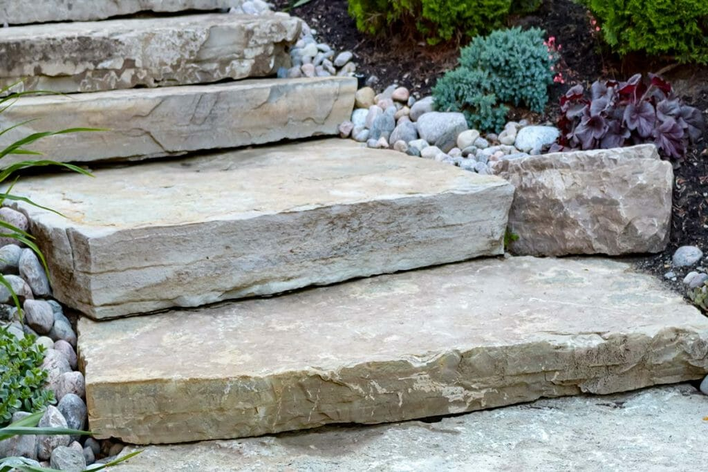 Brumwell, Toronto Landscaping Project; Featuring Flagstone Steps