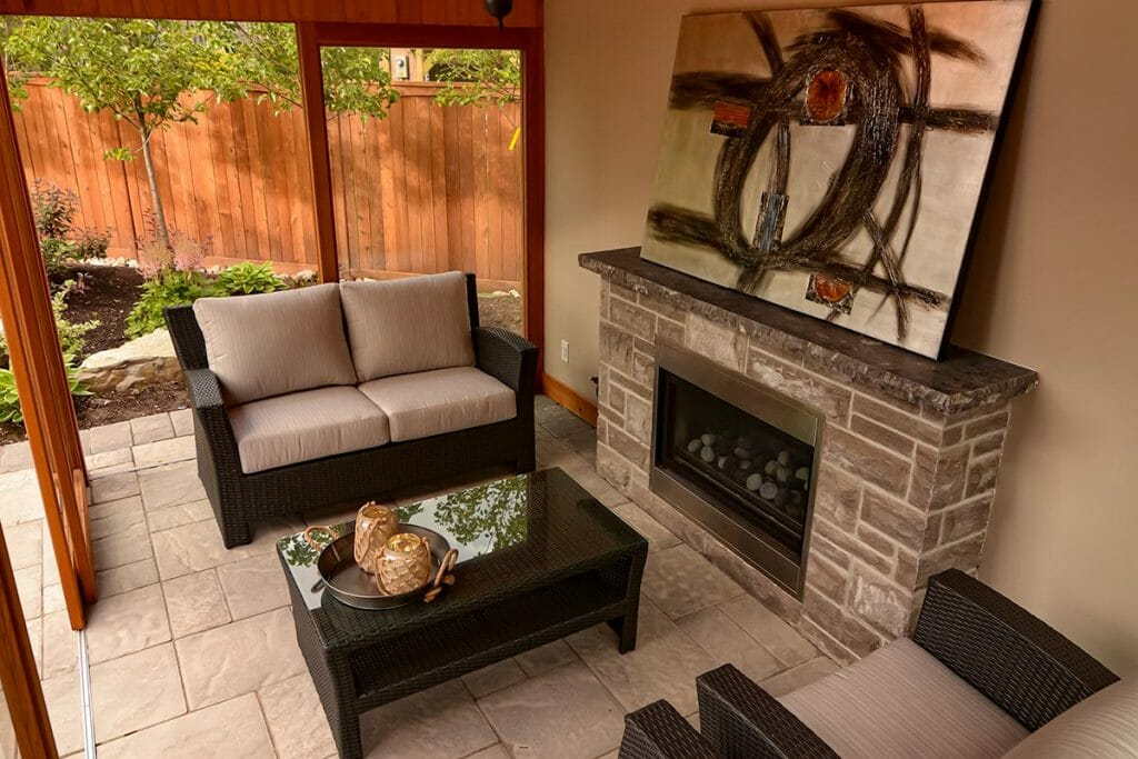 Brumwell Toronto Landscaping Project; Featuring Gazebo Woodworking & Outdoor Fireplace