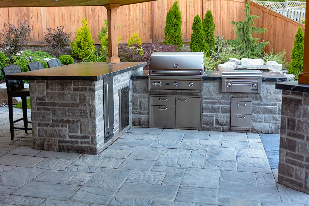 Brumwell, Toronto Landscaping Project; Featuring Outdoor Kitchen