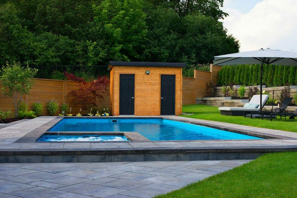 Cedar Point, Toronto Landscaping, Interlocking, Woodworking & Pool Installation Project