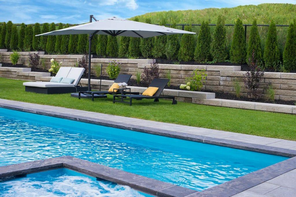 Cedar Point, Toronto Landscaping Project; Featuring Pool Installation, Interlocking & Retaining Walls