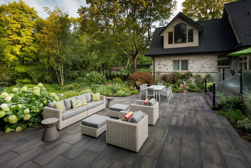 Chine Drive, Complete Large Backyard, Toronto Landscaping Project with Interlocking & Decking