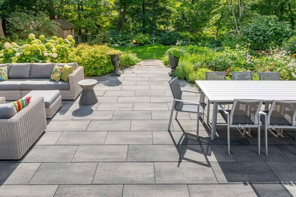 Chine Drive Toronto Landscaping Project; Featuring Patio Design & Interlocking by M.E. Contracting