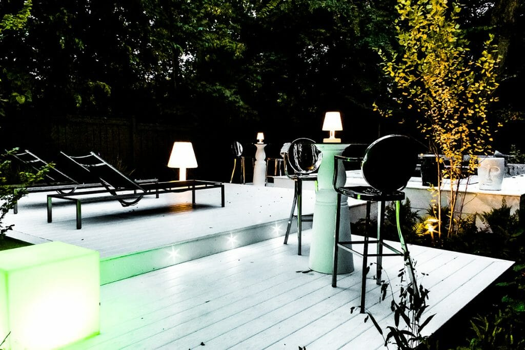 Complete Backyard Landscape Design & Decking Project by M.E. Contracting.