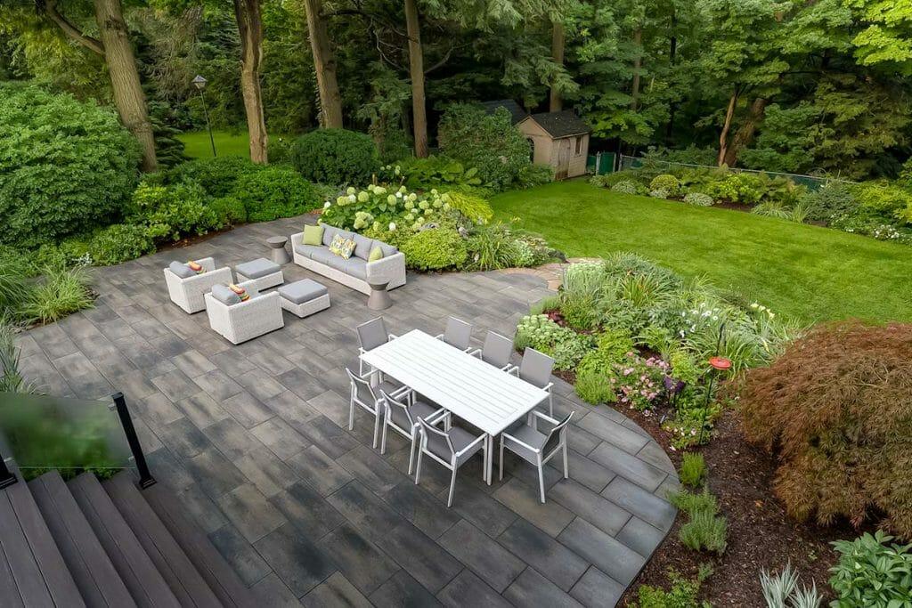 Complete Backyard Landscape Design Project; Chine Drive - Featuring Interlocking & Soft Scape