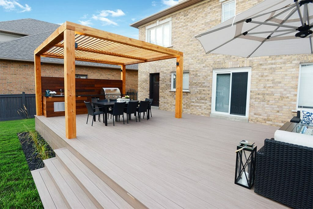 Complete Decking, Woodworking & Patio Design Project; M.E. Contracting.