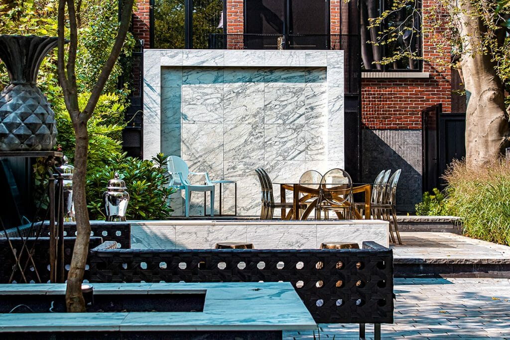 Complete Marble Garden Landscape Design Project  by Toronto Landscaping Company; M.EE. Contracting.
