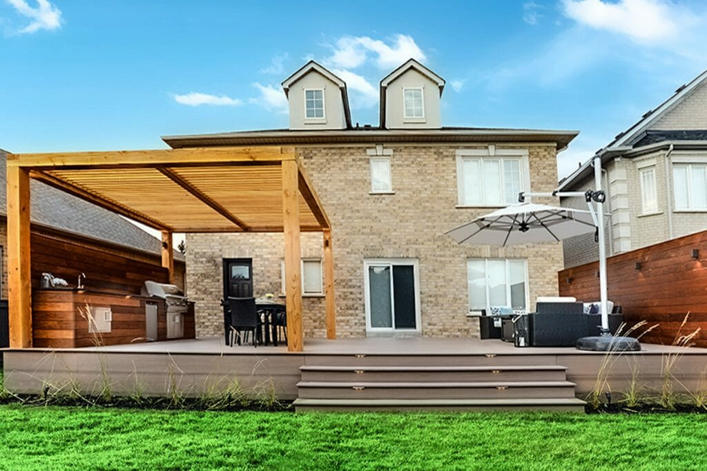 Complete Backyard Patio Design & Decking Project; M.E. Contracting.