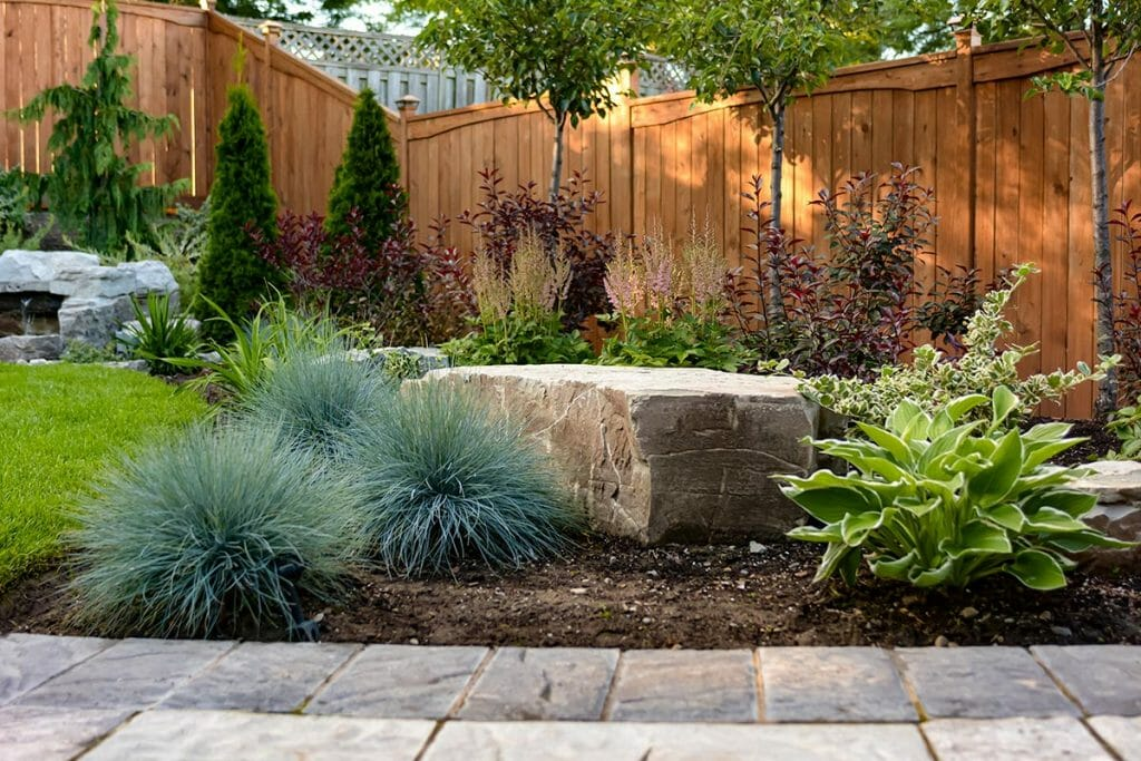 Complete Toronto Landscaping Design with Interlocking & Cedar Privacy Fence