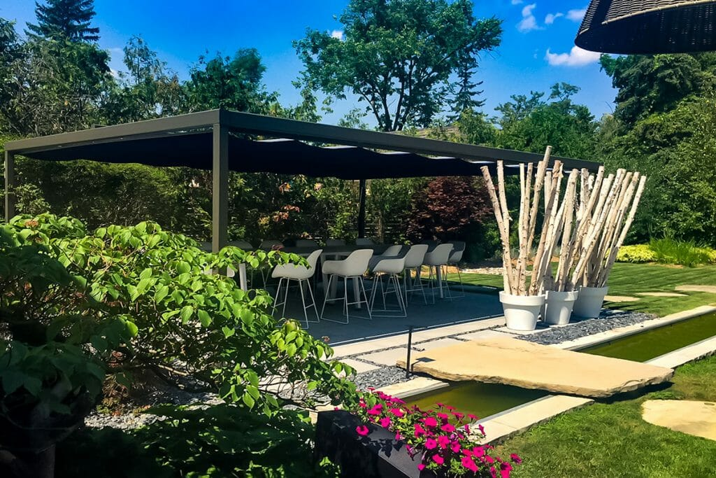 Fishman Property, Toronto Landscaping Project with Pergola & Water Features