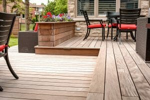 IPE Decking Project by Toronto Landscaping Contractors; Featuring IPE Decking, Interlocking & Woodworking on Classic Home In Toronto.