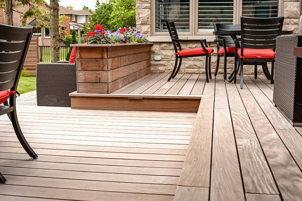 IPE Decking Toronto by Toronto Landscaping Contractors; M.E. Contracting.
