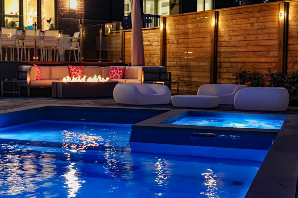 Landscaping Toronto; Project Featuring Landscape Design & Pool Installation by M.E. Contracting.