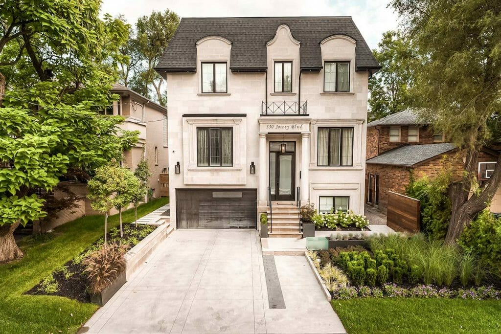 Joicey Blvd, Front Yard Driveway Interlocking & Landscaping by Toronto Landscaping Company