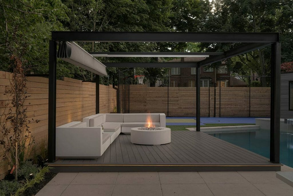 Landscape Design & Pool Construction with Water Feature Project - Abu Residence