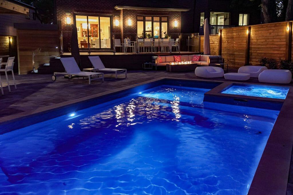 Complete Landscape Design, Deck Build, Pool Installation & Interlocking Project; M.E. Contracting.