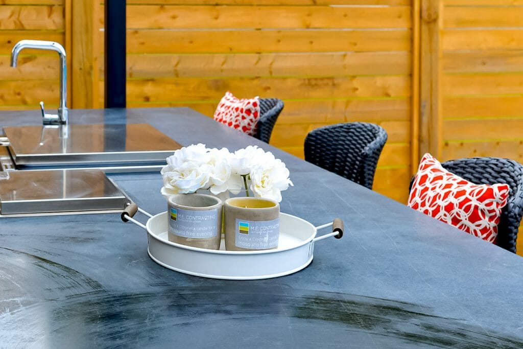 Outdoor Kitchen Feature for Cedar Point, Toronto Landscape Design Project