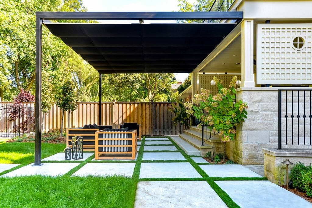 Toronto Landscaping, Ridley Backyard Landscaping Design & Construction Project, by M.E. Contracting.