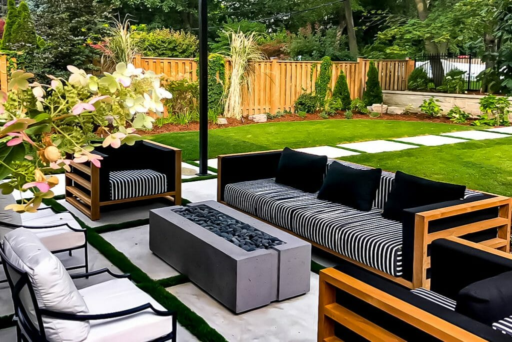 Ridley Landscaping Design Project; Featuring Pergola Interlocking Outdoor Fireplace