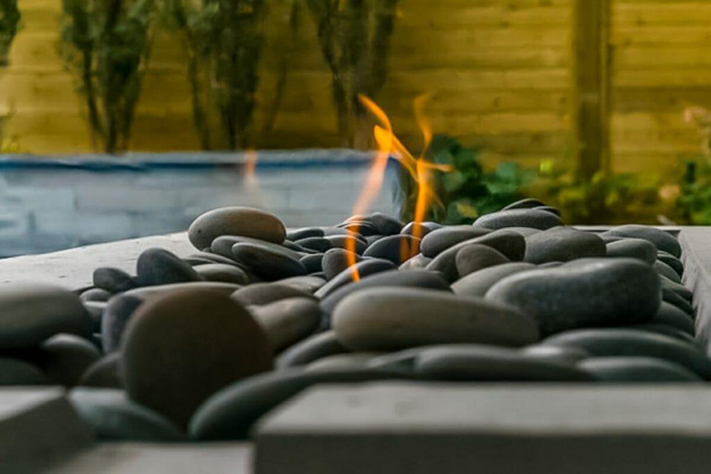 Sekler Residence; Outdoor Fireplace Feature