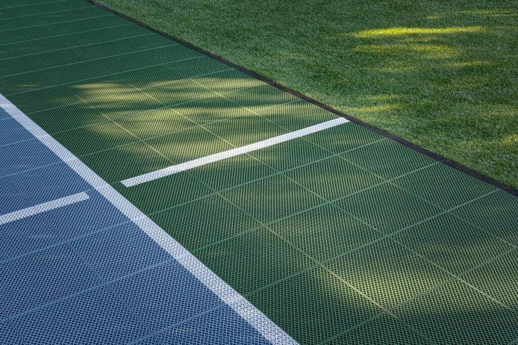 Sports Court Feature; Ginsler Landscape & Patio Design Project