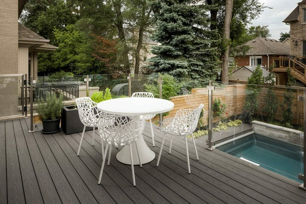 TREX Decking Feature for Complete Landscaping Design Project on Joicey Blvd