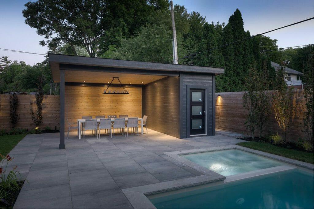 Toronto Landscape Design on Pheasant Drive with Gazebo Feature