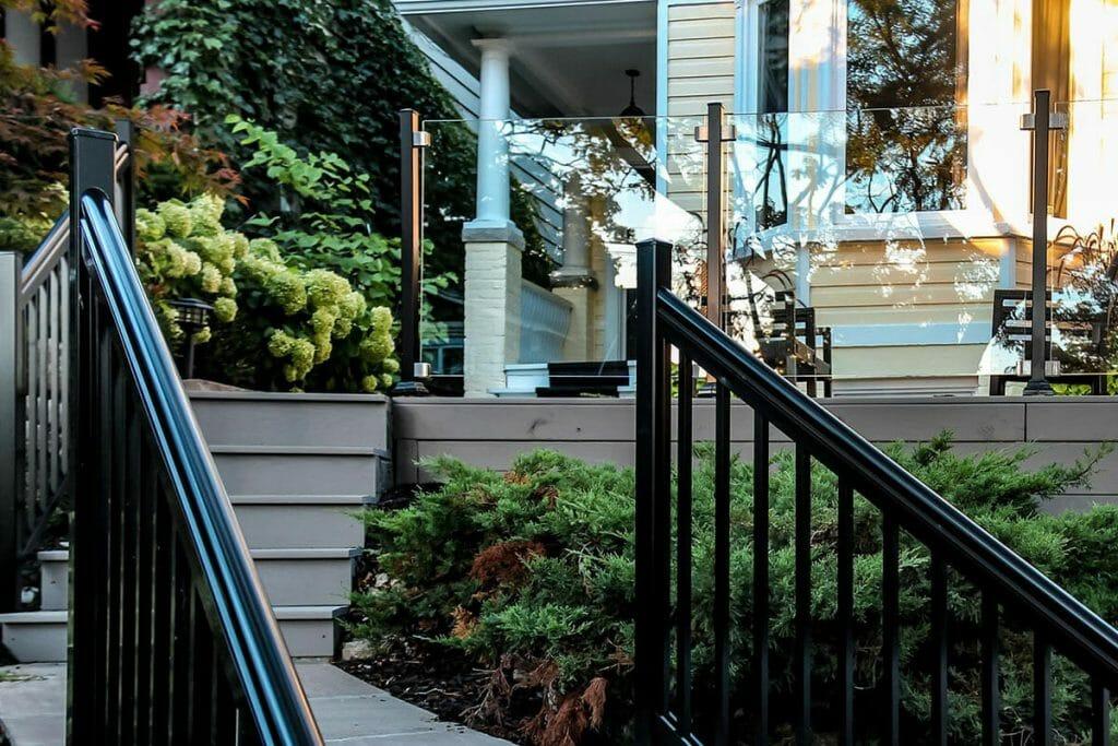 Toronto Landscaping Company; Featuring Interlocking & Aluminum Glass Railings Project.
