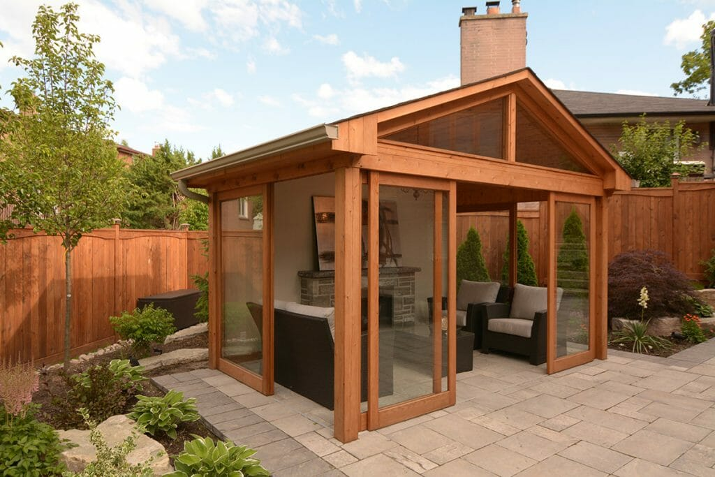 Toronto Landscaping Project; Featuring Gazebo, Outdoor Fireplace, Interlocking & Privacy Fence