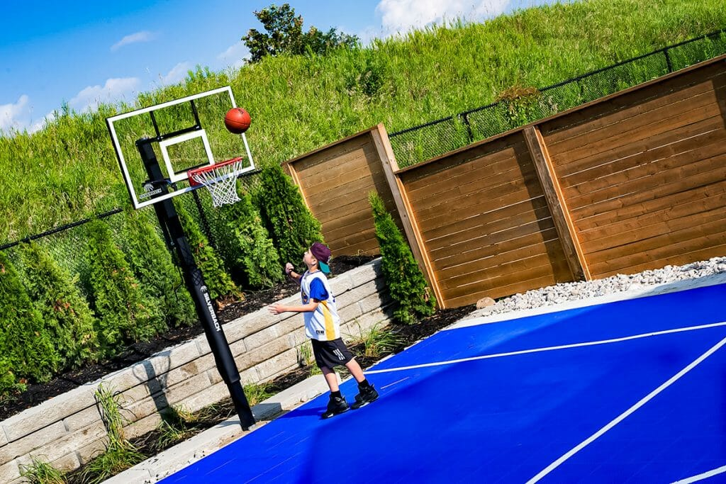 Toronto Landscaping Project, Sports Court; Cedar Point