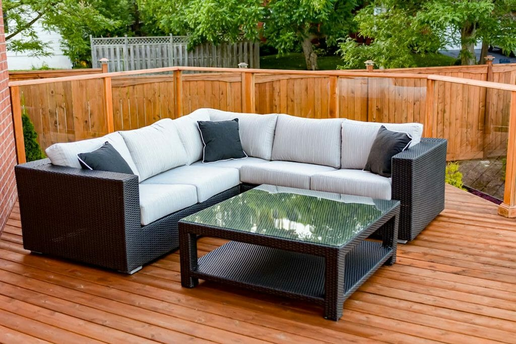 Toronto Landscaping Project with Cedar Deck Build & Glass Railings