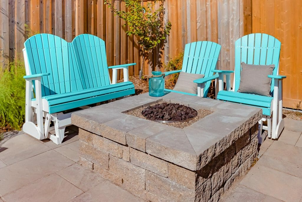 Toronto Landscaping Project with Outdoor Fireplace, 133 Spalding Road by M.E. Contracting.