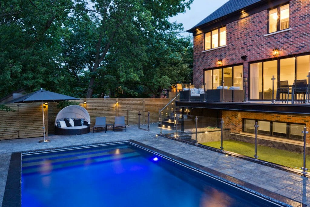 Toronto Landscaping Project with Pool Construction & Interlocking