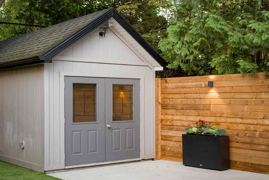 Toronto Landscaping Project with Privacy Fence & Shed; Hillhurst