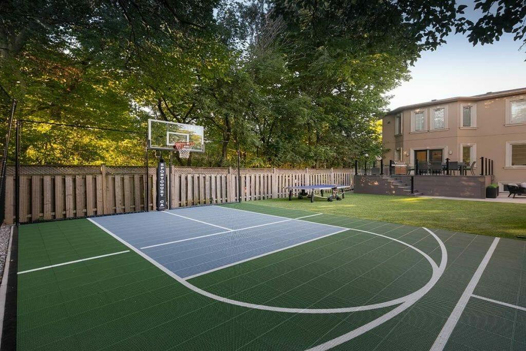 Toronto Sports Court Installation for Toronto Landscape Design Projeect