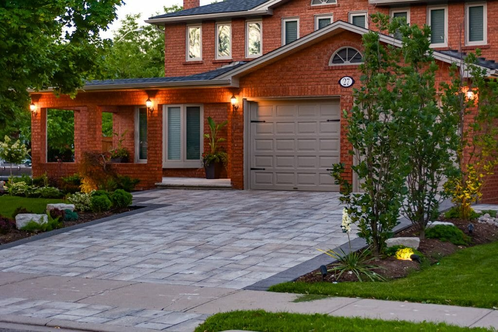 Total Landscape Design Project, By Toronto Landscaping Company; Featuring Driveway Paving Interlocking