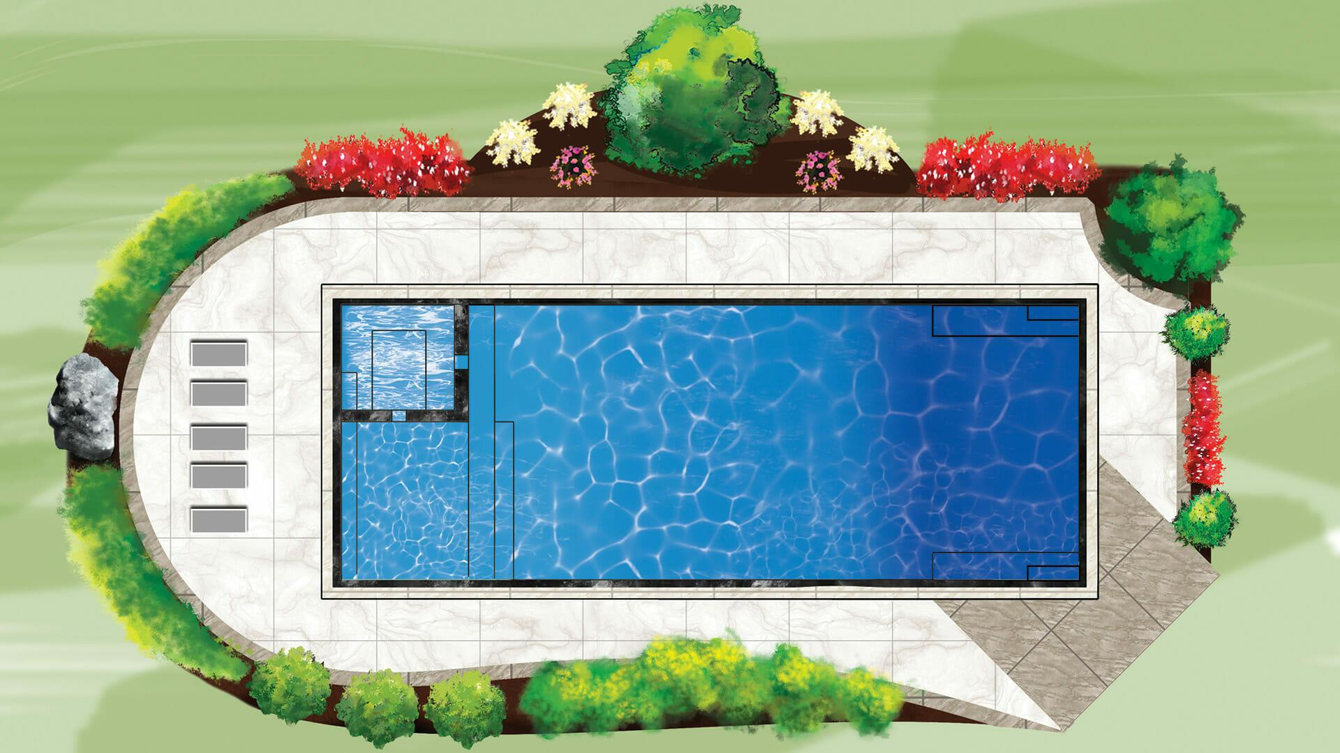 Ultimate Fiberglass pool by Leisure Pools